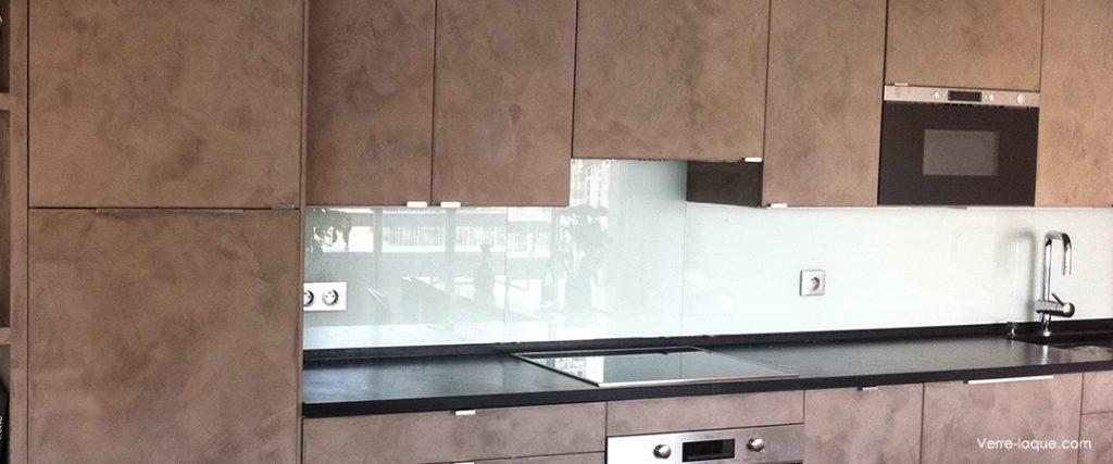 Verre laqu sur mesure couleurs au choix professionnel - Credence cuisine blanc laque ...
