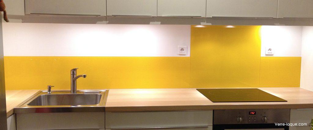 Choix des couleurs professionnel du verre laqu sur for Credence cuisine blanc laque